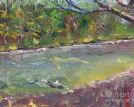 Cape Fear River- Palette Knife Oil Painting By Award Winning Artist Joe Byrd by Joe Byrd