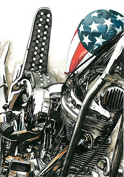 Captain America by Marie Downing