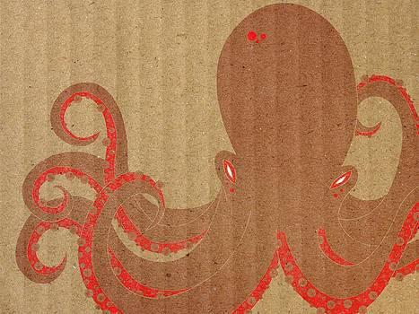 Cardboard Octopus by Daniel Sallee