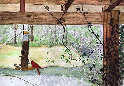 Cardinal-Back Porch Picnic by June Holwell