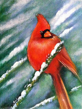 Cardinal in the Snow by Theresa Stites