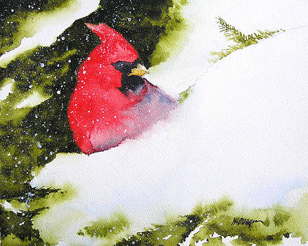 Cardinal In The Snow by William Beaupre