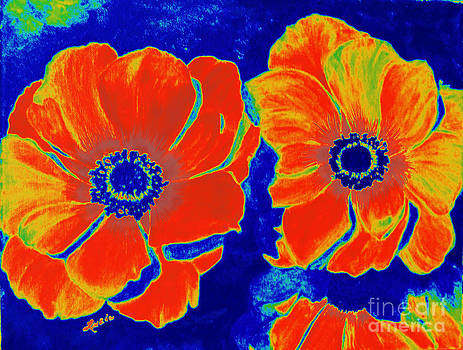 Carefree Digital Flowers by Lucia Grilletto