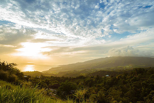 Caribbean Dream - Martinique Sunset over Mount Pelee by Vivienne Gucwa