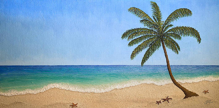 Caribbean Impasto Painting by Lori Grimmett