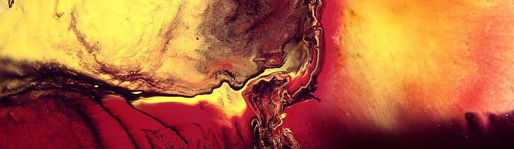 Caribbean Sunset Bright Abstract Art by kredart by Serg Wiaderny