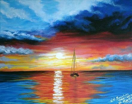 Caribbean sunset by Naeema Bacchus