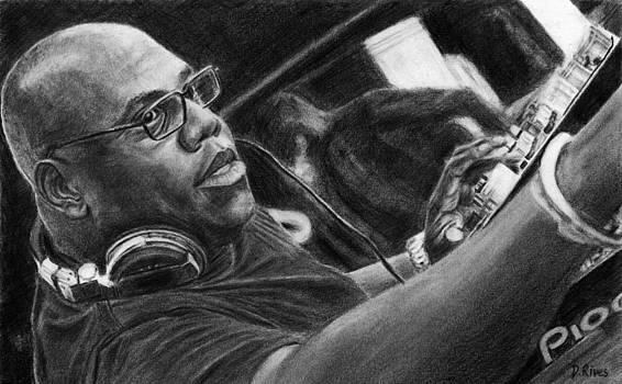 Carl Cox Pencil Drawing by David Rives