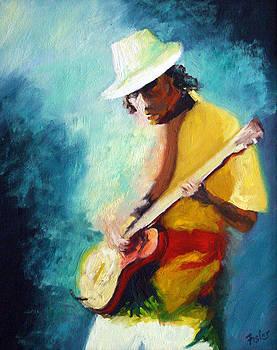 Carlos Santana by Linda Riesenberg Fisler