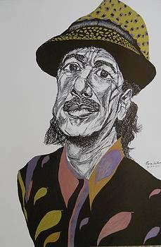 Carlos Santana by Ron Anthony