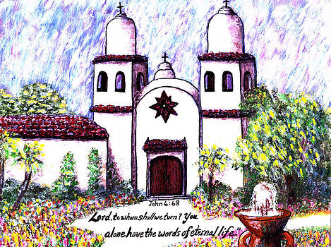 Carmel Mission by Catherine Saldana