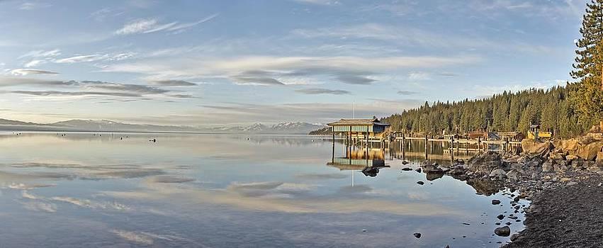 Carnelian Bay Morning Panorama Lake Tahoe Larry Darnell by Larry Darnell