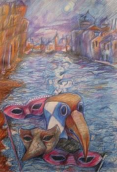 Carnevale De Venezia by Brigitte Hintner