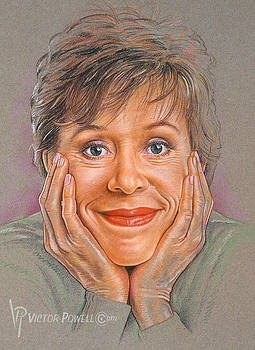 Carol Burnett Portrait by Victor Powell