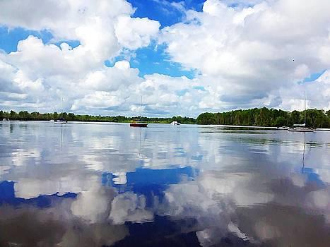 Carolina Blue- Washington NC by Joan Meyland
