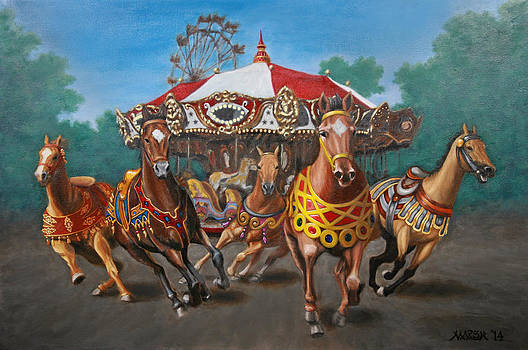 Carousel Escape at the Park by Jason Marsh