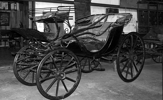 Carriage in Black and White by Bernadette Amedee