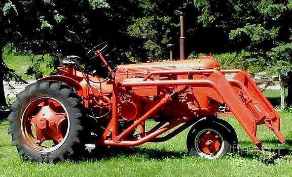 Gail Matthews - Case Tractor in Glowing Orange