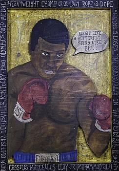 Cassius Clay - Muhammad Ali by Eric Cunningham