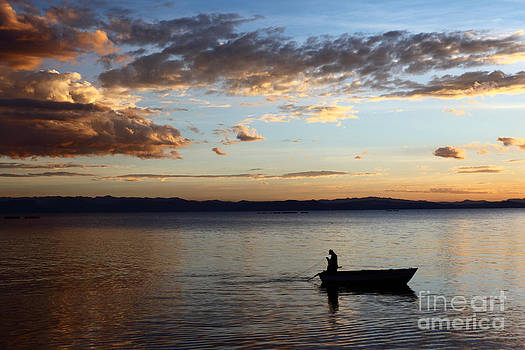 James Brunker - Casting the Net on Lake Titicaca