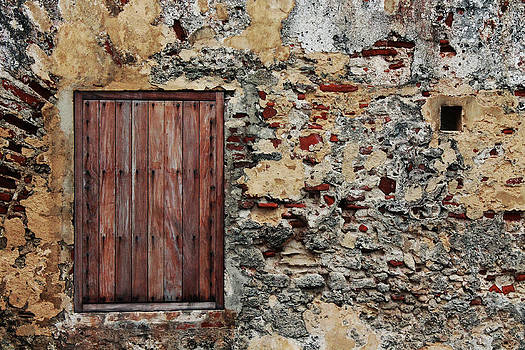 Castillo Wall San Juan Puerto Rico by Robin Lewis