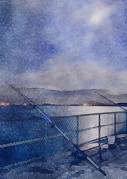Castle Island Night Fishing by Kate Hannon