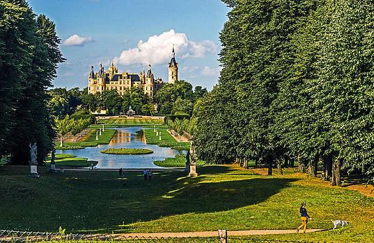 Castle of Schwerin Landscape by Michael Lobisch-Delija