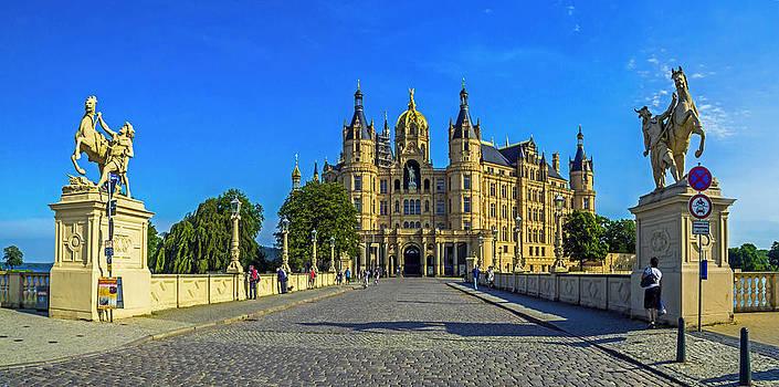 Castle of Schwerin Pano by Michael Lobisch-Delija