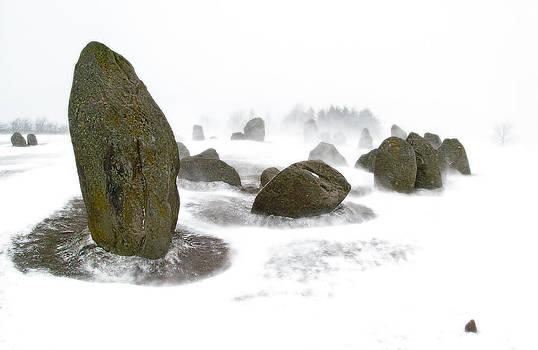 Castlerigg Snow Stones by Tony Partington
