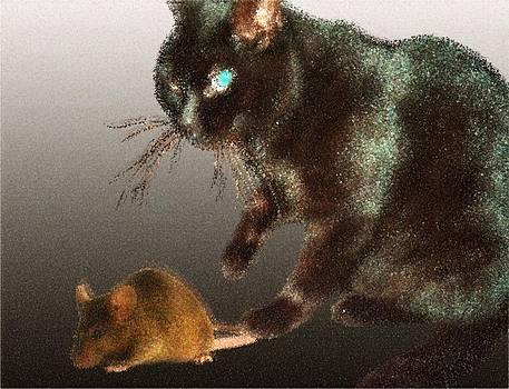 Cat And Mouse by Nandan NAGWEKAR