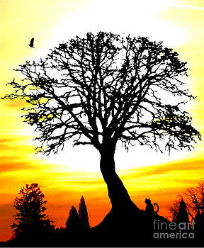 Nick Gustafson - Cat Crow and Sunset Tree