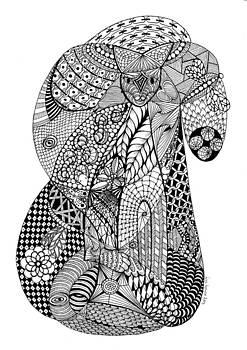 Cat in a tangle by Lissi Lyngsoe