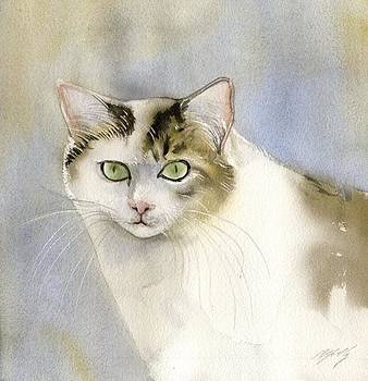 Alfred Ng - cat in watercolor