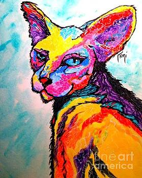 Cat of a different color by Toni Rivas
