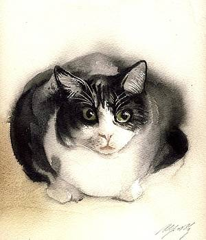 Alfred Ng - cat watercolor