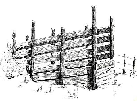Cattle Chute Ink by Richard Faulkner