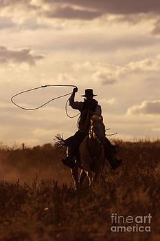M Watson - Cattleman Riding Quarter Or Paint Horse