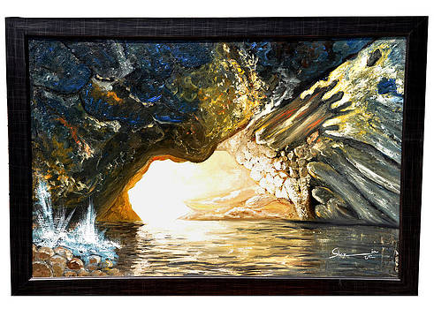 Cave And Water by Shazia Saeed