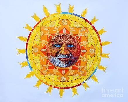 CBS Sunday Morning Sun Mandala by Gail Allen