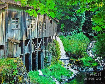 Cedar Creek Grist Mill by L J Oakes