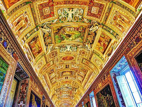 Ceiling of Vatican Museum by Ravi S R