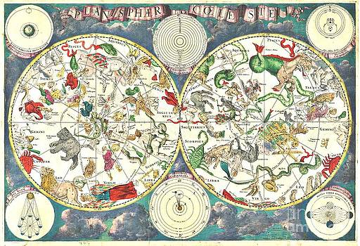 REPRODUCTION - Celestial Map - 17th Century