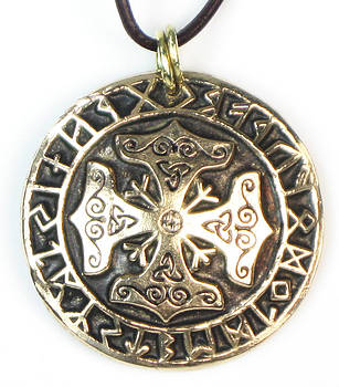 Celtic Cross Astrological Talisman or Key Ring Charm by Virginia Vivier