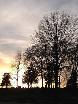 Cemetery Sunset by Jerry Browning