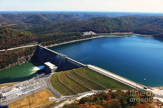 Center Hill Dam by Louis Colombarini