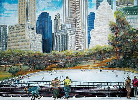 Central Park Ice Rink by Mitchell McClenney