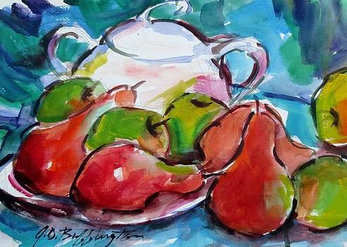 Cezanne's Pears Ii by JULES Buffington
