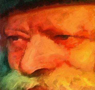 Chabad Lubavitch Rebbe Rabbi Menachem Schneerson Painting by Mendy Portrait famous figure by MendyZ