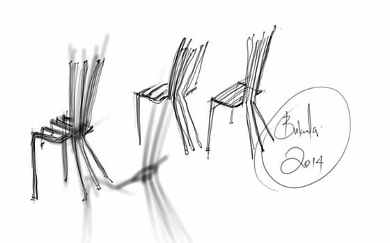 Chair Sculpture by Khaya Bukula