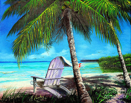Chair Under A Palm Tree by Earl Butch Curtis